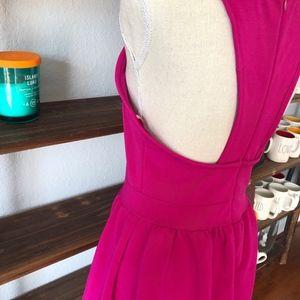 Lulu's Dresses - LULU'S | HOT PINK | SKATER DRESS | SIZE MEDIUM EUC